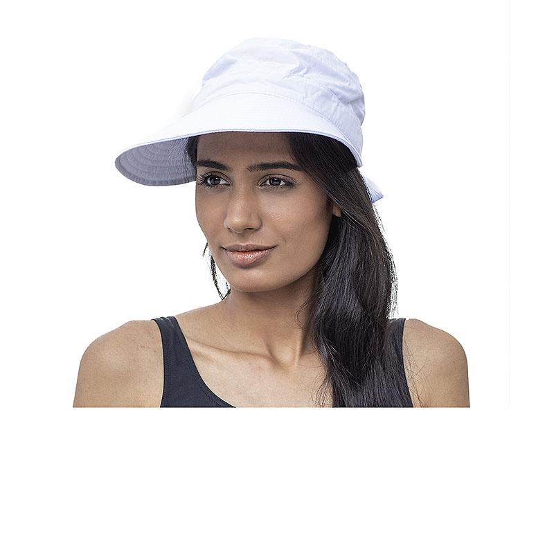 XL-cepure sieviešu  ar nagu un klipsi balta
