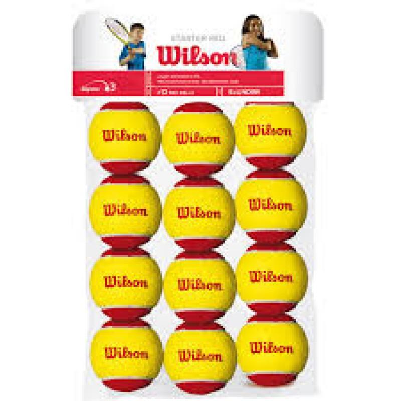 WILSON STARTER RED BALLS ( 12 gb. )