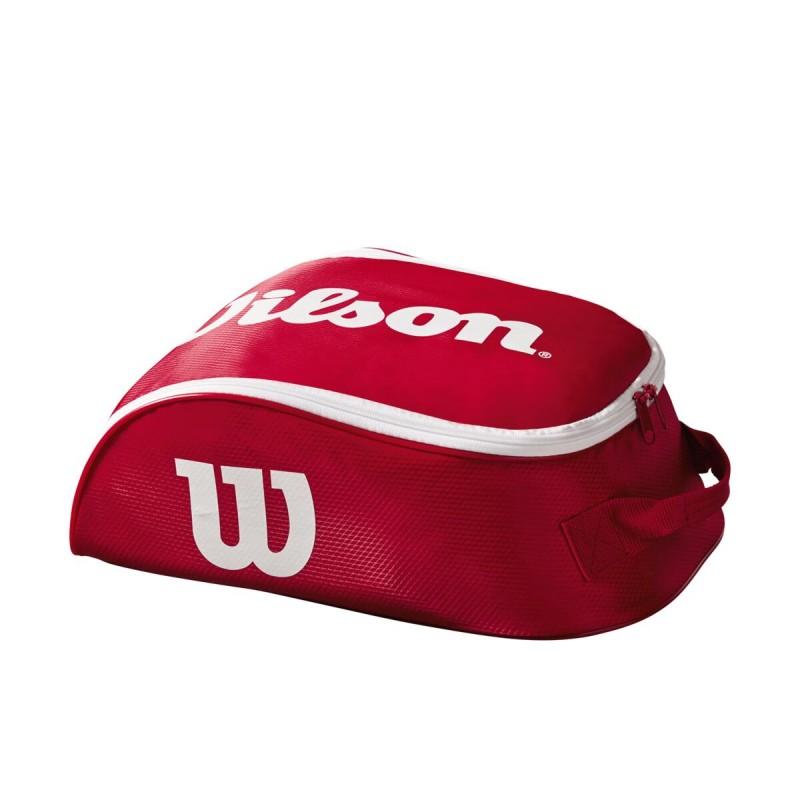 WILSON APAVU SOMA TOUR IV SHOE BAG RED/WHITE